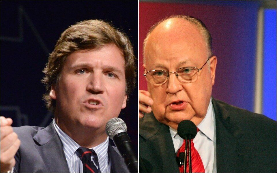 Tucker Carlson and Roger Ailes