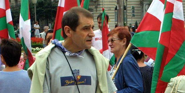 Josu Ternera lors d'une manifestation d'indépendantistes basques en 2002 à