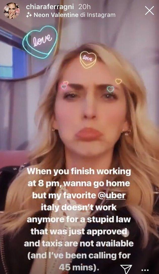 """Ferragni dalla parte di Uber: """"In Italia non funziona per una stupida"""