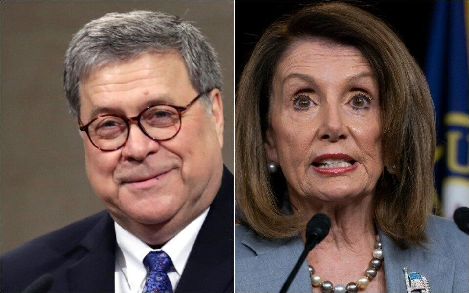 Bill Barr, Nancy Pelosi
