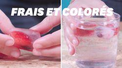 Pour la canicule, cette recette de glaçons est parfaite pour colorer vos