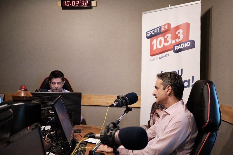 Μητσοτάκης στο Sport24 Radio 103,3: «Καθαρή νίκη στις Ευρωεκλογές με καλό σκορ για τη