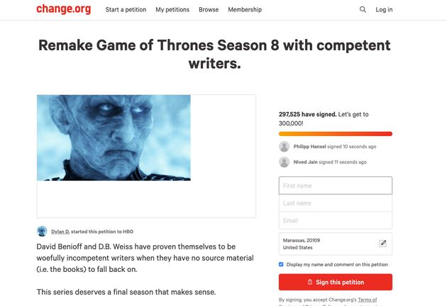 Viral Petition To Remake 'Game Of Thrones' Sparks Daenerys Targaryen-Level