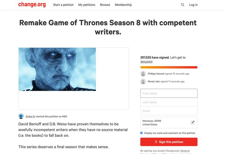 The Game of Thrones Petition
