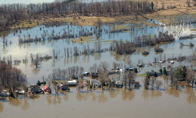 A flooded neighbourhood is seen here in Rigaud, Que., on April 30, 2019. Public Safety Canada says it...