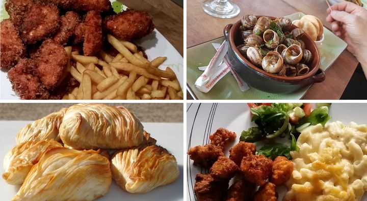A selection of dishes which incorporate British food with other cultures.