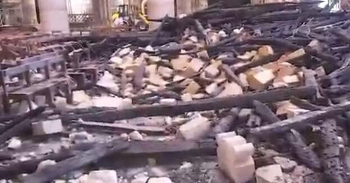 Notre-Dame: à quoi ressemble l'intérieur un mois après l'incendie