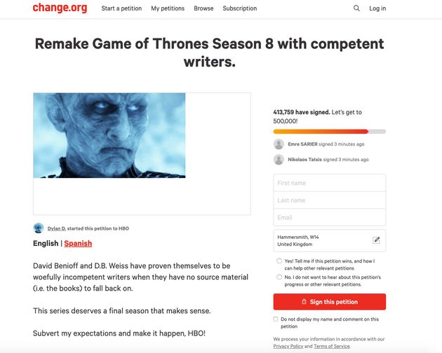 This Game Of Thrones petition is gathering serious