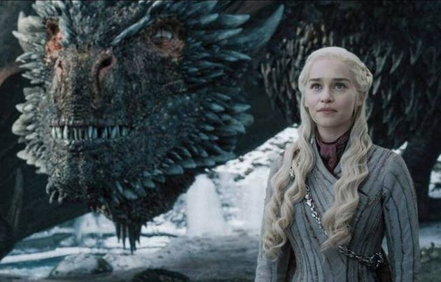 Emilia Clarke as Daenerys in the final series of Game Of