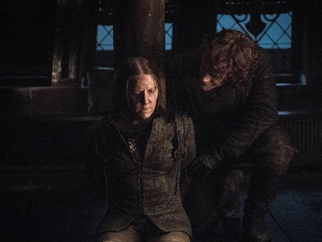 Yara Greyjoy was finally rescued by her hapless brother Theon, who she promptly headbutted, of course....