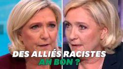 Quand Marine Le Pen doute (à tort) des idées racistes de ses alliés