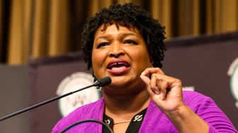 NEW YORK, NY, UNITED STATES - 2019/04/03: Stacey Abrams, Former Georgia Gubernatorial Candidate, at the National Action Network (NAN) convention in New York City. (Photo by Michael Brochstein/SOPA Images/LightRocket via Getty Images)