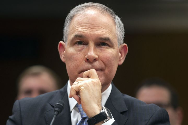 Then-EPA Administrator Scott Pruitt testifying before a Senate subcommittee on May 16, 2018.