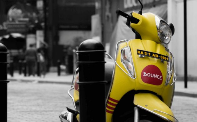 A scooter available via the Bounce