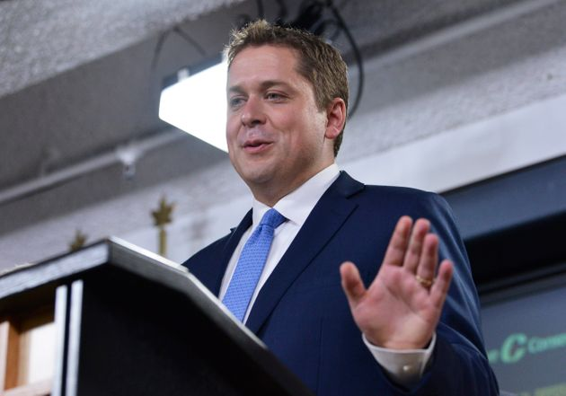 Conservative LeaderAndrewScheerholds a press conference in Ottawa on July 20,