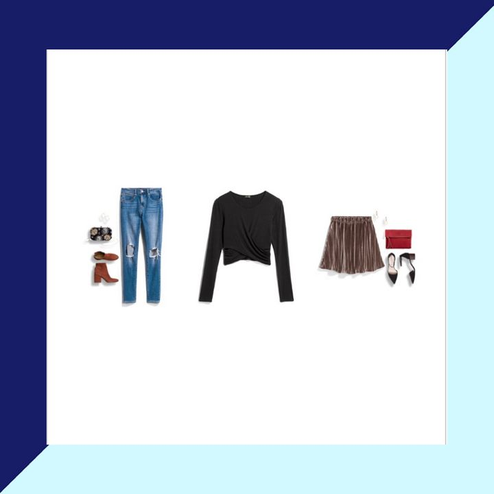 Here's an example of the style cards that come with each item in your Stitch Fix shipment. This style card is for the black crop top in the middle.
