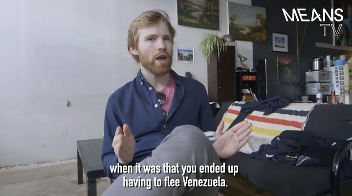"A screengrab from Means TV's ""Chaos in Venezuela."""