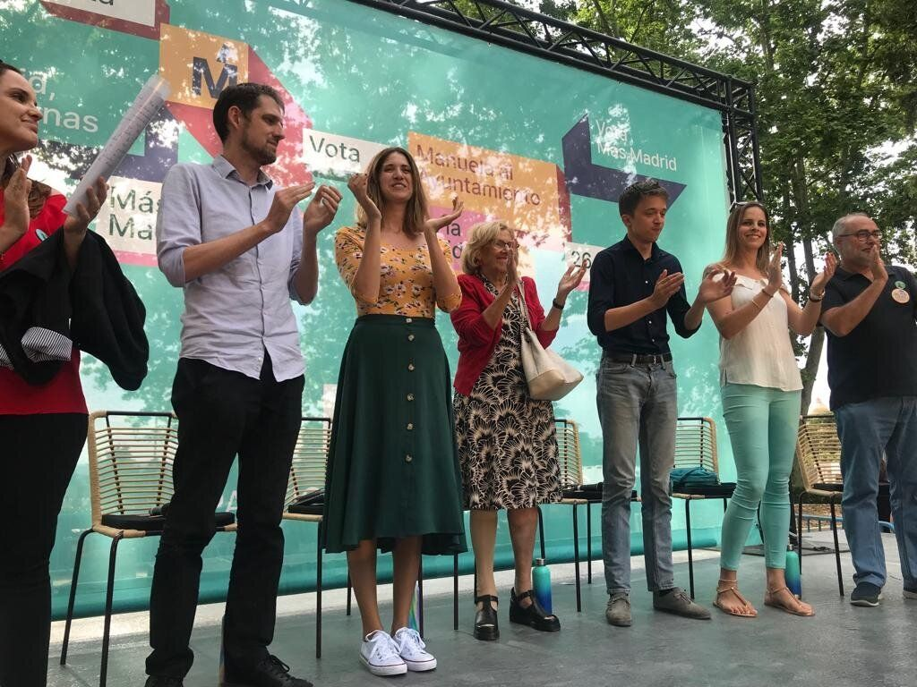 El acto de Más Madrid en el que han participado Carmena y