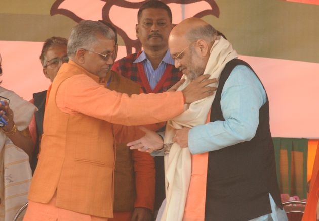 Dilip Ghosh (left) with Amit
