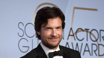 "Jason Bateman poses with the award for outstanding performance by a male actor in a drama series for ""Ozark"" in the press room at the 25th annual Screen Actors Guild Awards at the Shrine Auditorium & Expo Hall on Sunday, Jan. 27, 2019, in Los Angeles. (Photo by Jordan Strauss/Invision/AP)"