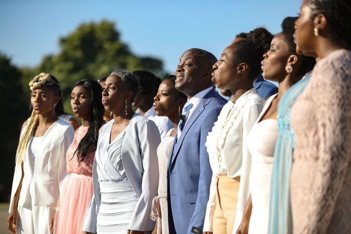 The Kingdom Choir entertains guests.