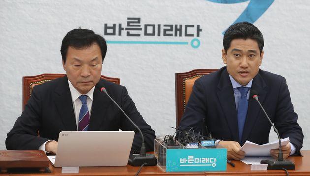 오신환 바른미래당 원내대표가 17일 오전 서울 여의도 국회에서 열린 제97차 최고위원회의에서 모두발언을 하고