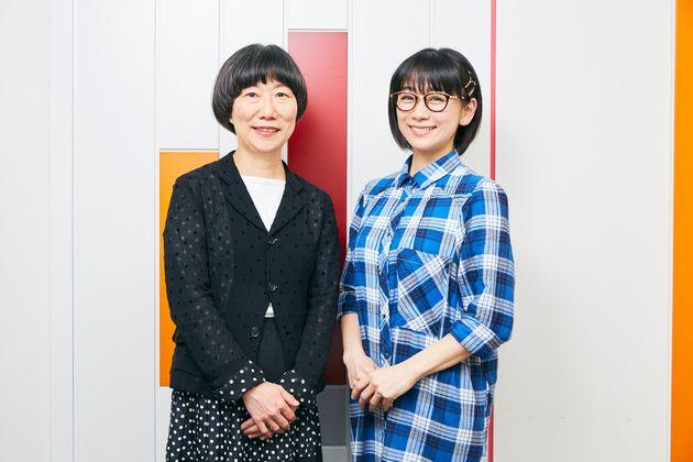 左からインタビュアーの博報堂生活総合研究所 夏山明美主席研究員とマルチタレント 時東ぁみさん