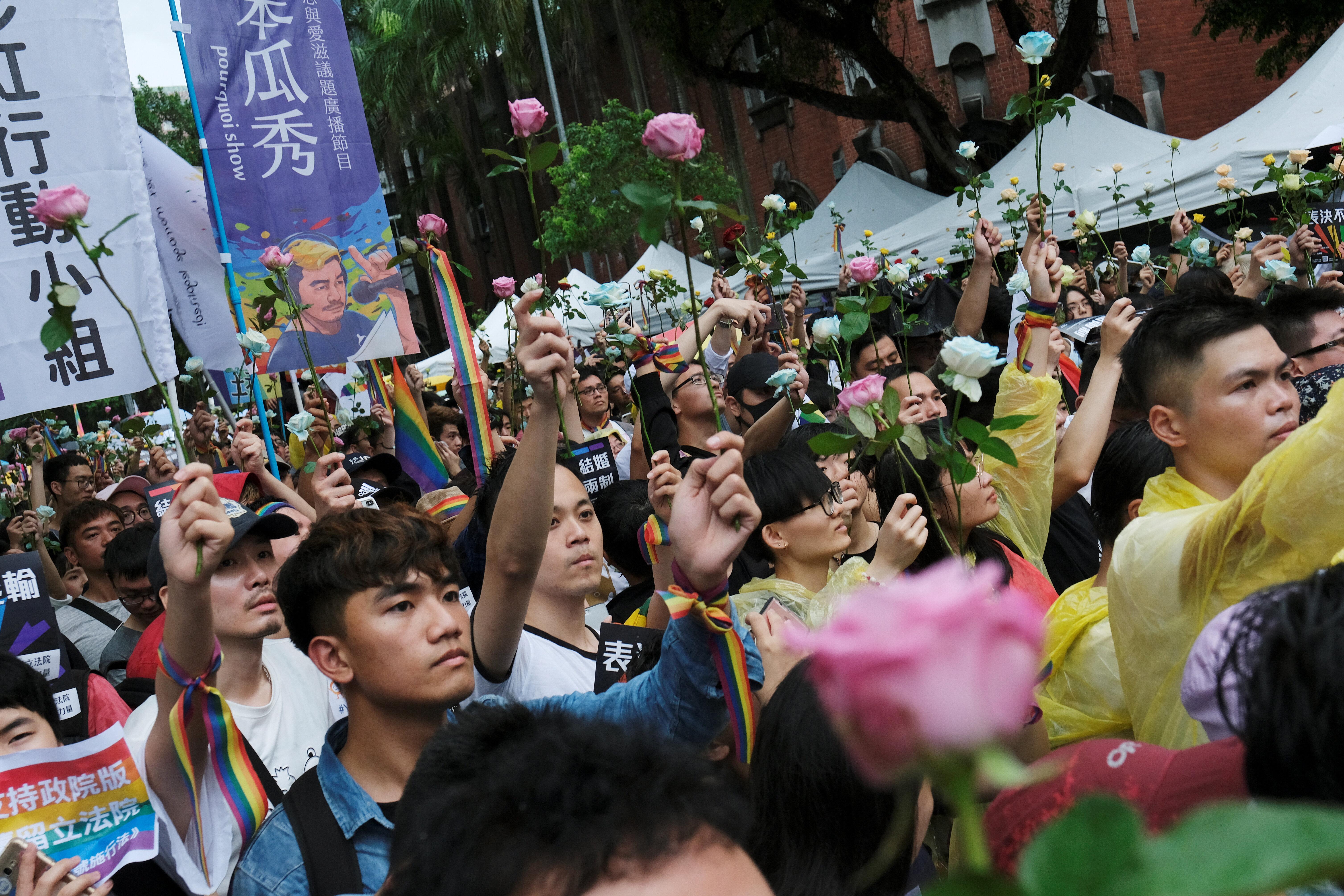 대만에서 아시아 최초로 동성결혼이