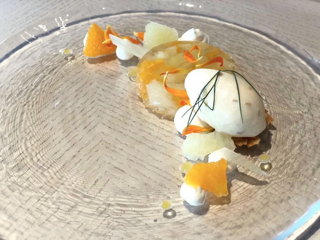 季節的蜂蜜生薑柑橘果凍