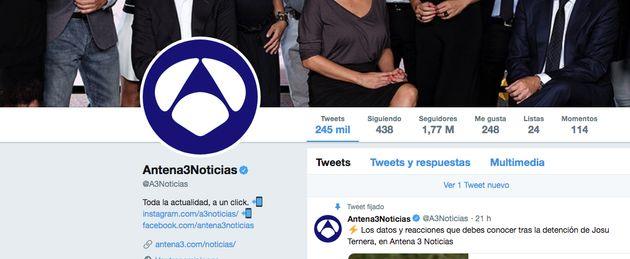 'Antena 3 Noticias' provoca risas en Twitter con este mensaje sobre la
