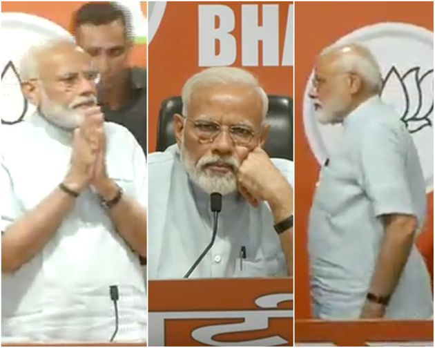 The Many Faces Of Modi: What The PM Did At BJP's Press Conference With Amit