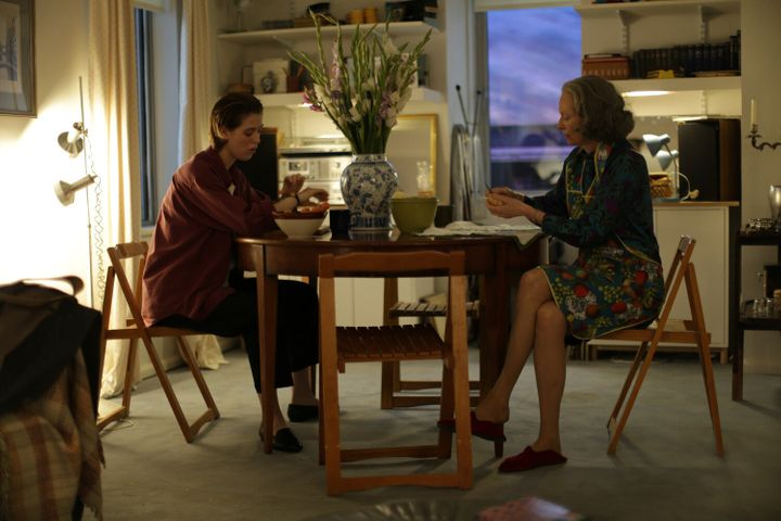 "Honor Swinton Byrne and Tilda Swinton in ""The Souvenir."""