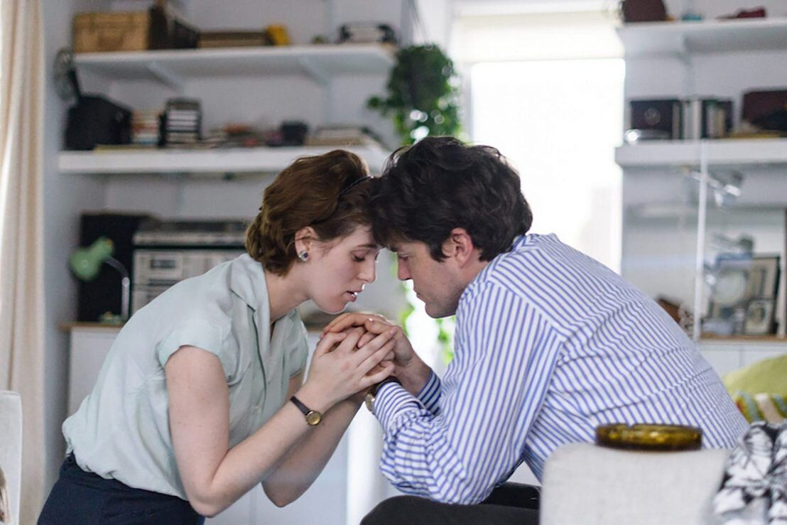 "Honor Swinton Byrne and Tom Burke in ""The Souvenir."""