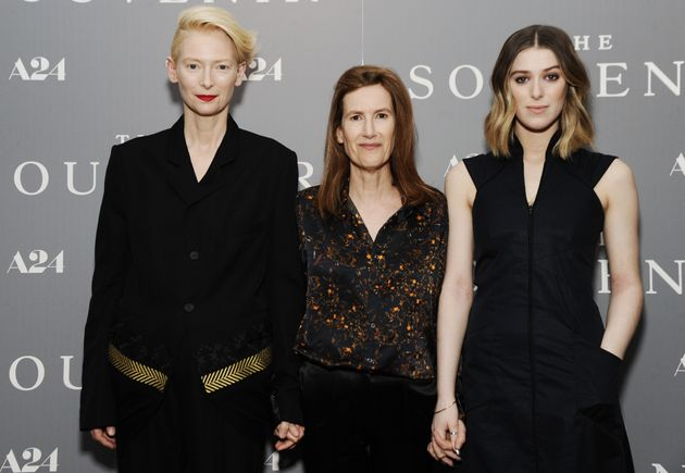 Tilda Swinton, Joanna Hogg and Honor Swinton Bryne at a screening of