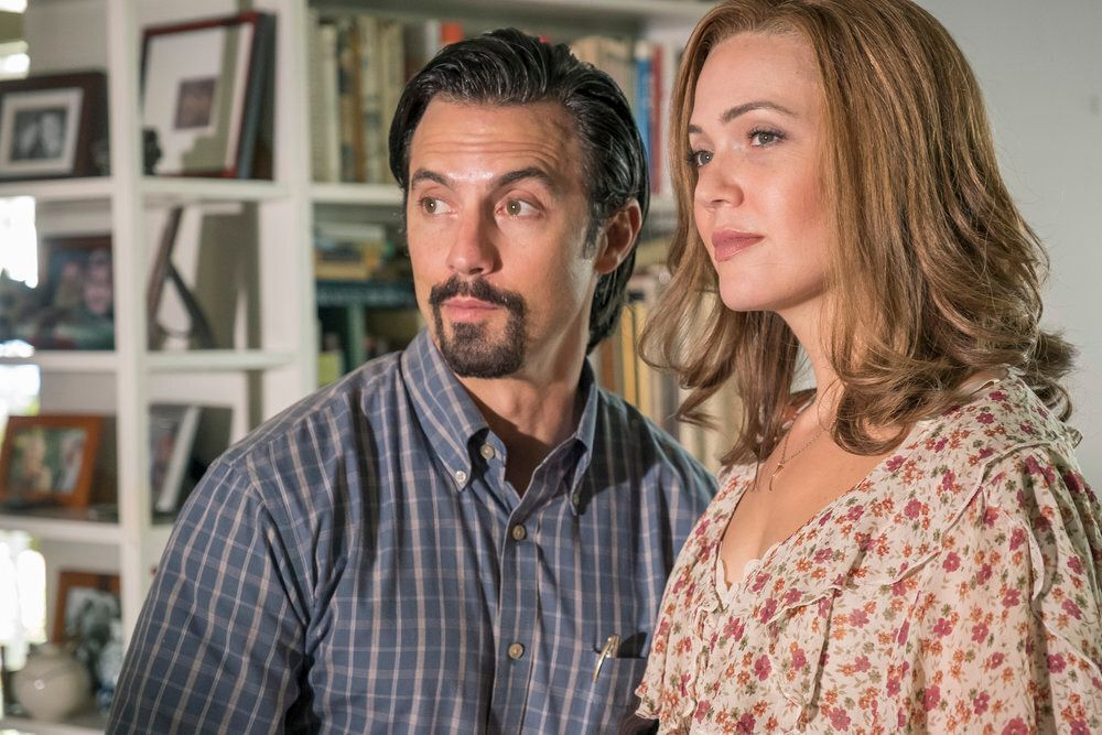 """Milo Ventimiglia and Mandy Moore in """"This Is Us."""""""