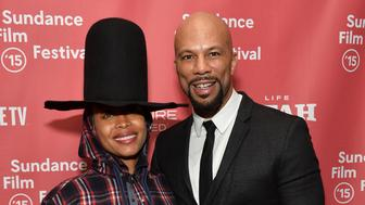 PARK CITY, UT - JANUARY 25:  Recording artists Erykah Badu (L) and Common pose backstage at the Celebration of Music in Film event during the 2015 Sundance Film Festival on January 25, 2015 in Park City, Utah.  (Photo by Amanda Edwards/Getty Images for Sundance)