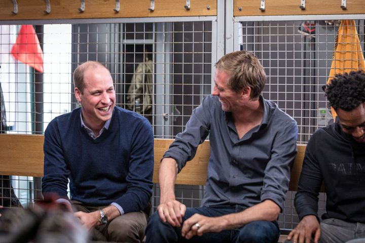 Prince William with Peter Crouch and Danny Rose