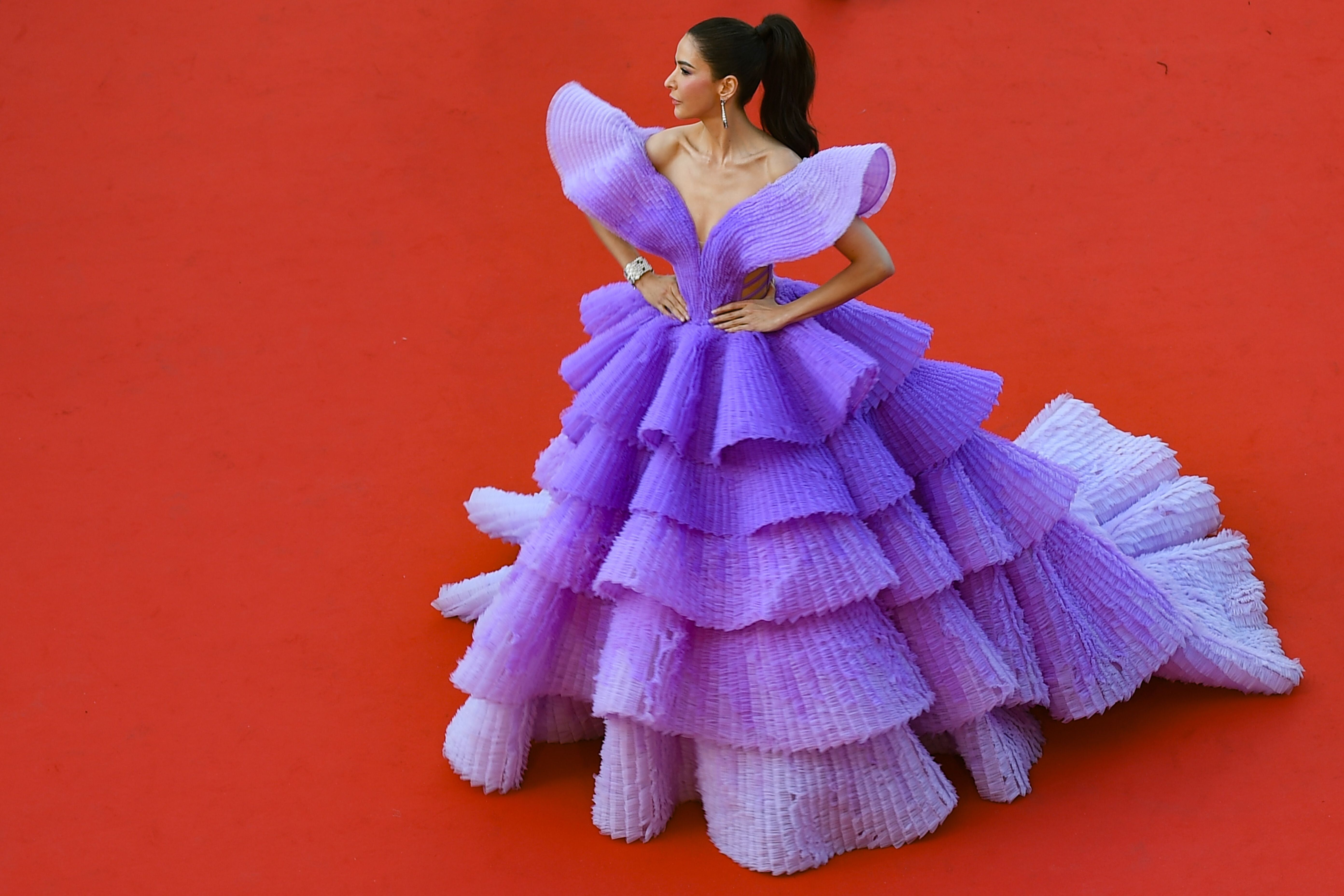 "Thai actress and model Sririta Jensen poses as she arrives for the screening of the film ""Rocketman"" at the 72nd edition of the Cannes Film Festival in Cannes, southern France, on May 16, 2019. (Photo by ANTONIN THUILLIER / AFP) / The erroneous mention appearing in the metadata of this photo by ANTONIN THUILLIER has been modified in AFP systems in the following manner: Sririta Jensen instead of Deepika Padukone. Please immediately remove the erroneous mention[s] from all your online services and delete it (them) from your servers. If you have been authorized by AFP to distribute it (them) to third parties, please ensure that the same actions are carried out by them. Failure to promptly comply with these instructions will entail liability on your part for any continued or post notification usage. Therefore we thank you very much for all your attention and prompt action. We are sorry for the inconvenience this notification may cause and remain at your disposal for any further information you may require.        (Photo credit should read ANTONIN THUILLIER/AFP/Getty Images)"