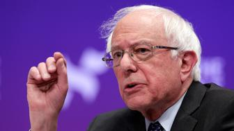 FILE - In this Wednesday, April 24, 2019, file photo, Democratic presidential candidate Sen. Bernie Sanders, I-Vt., answers questions during a presidential forum held by She The People, on the Texas State University campus in Houston. On Sunday, May 5, 2019, Sanders proposed a sweeping agriculture and rural investment plan to break up big agriculture monopolies and shift farm subsidies toward small family farmers. (AP Photo/Michael Wyke, File)