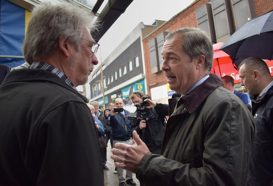 Farage meeting voters in