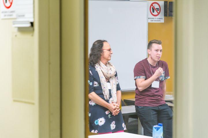 Une intervention faite dans une classe dans le cadre du projet pilote du GRIS sur l'identité de genre.