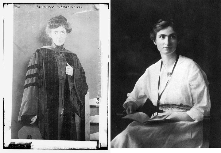 "Sophonisba Breckinridge and Edith Abbott. (Breckinridge: <a rel=""nofollow"" href=""https://www.loc.gov/pictures/item/2014686759"