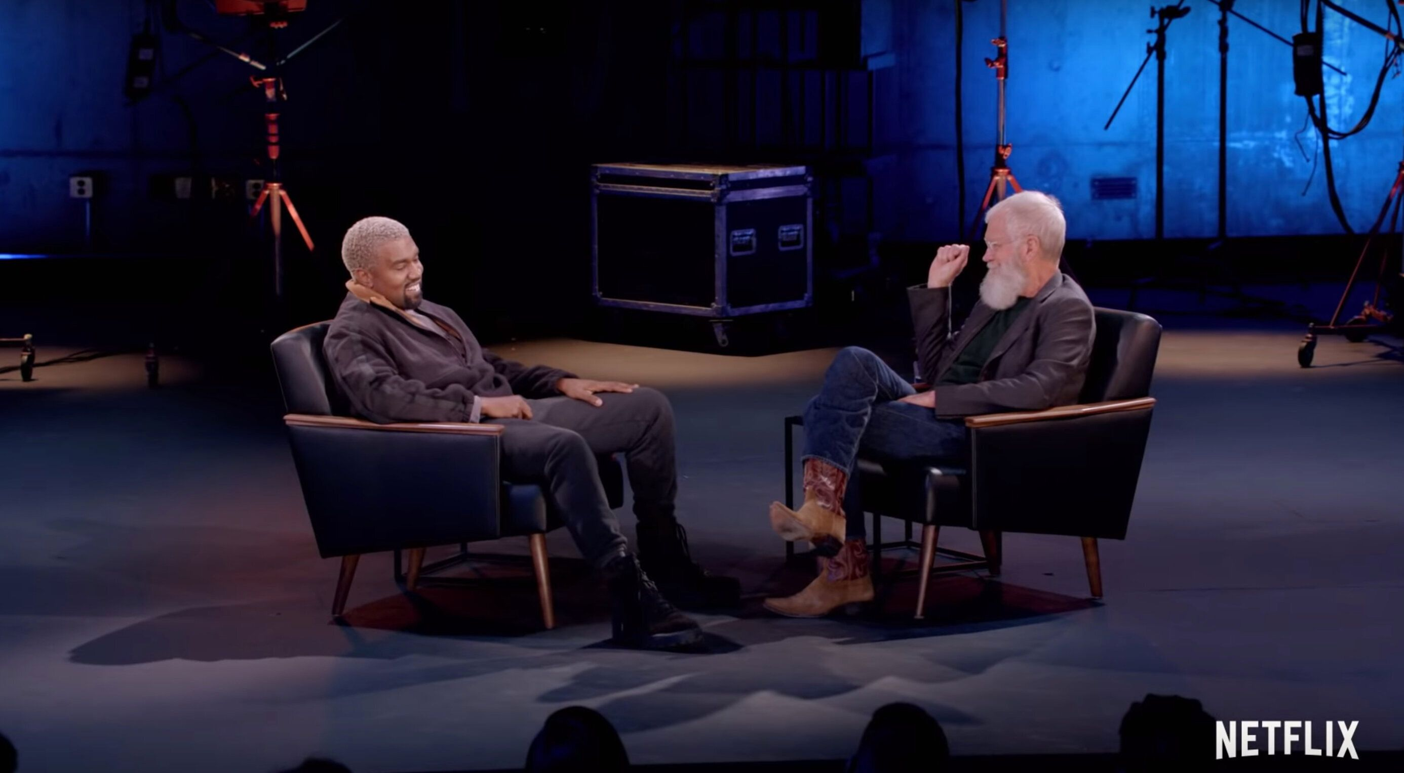 Kanye West with David Letterman