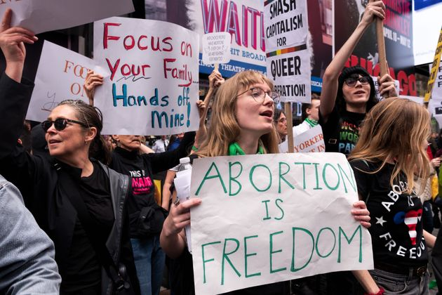 Pro-choice activists protest Alabama's near-total ban on