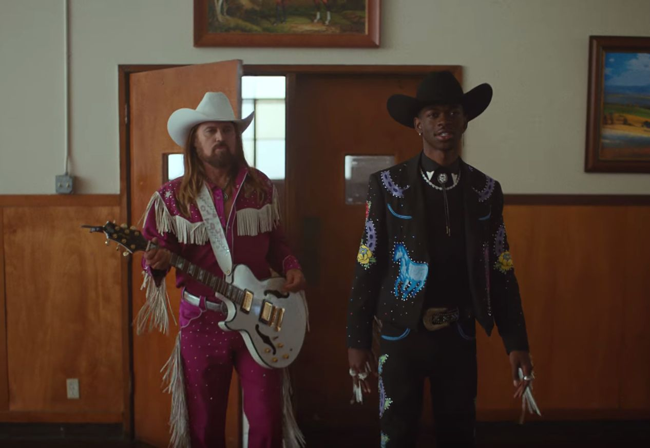Lil Nas X and Billy Ray Cyrus. Credit: Lil Nax Vevo/Youtube.