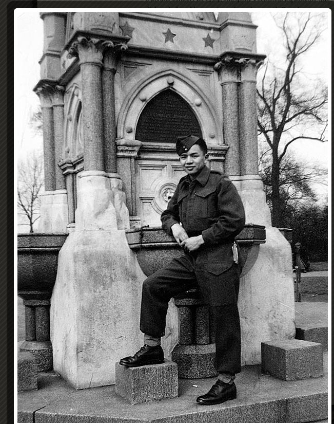 Gordon Quan in London, England in 1945.