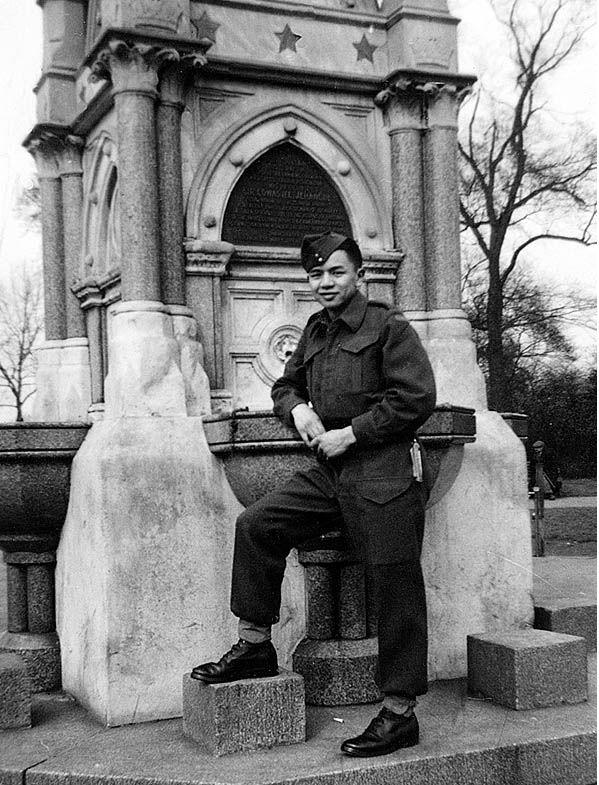 Gordon Quan in London, England in 1945.