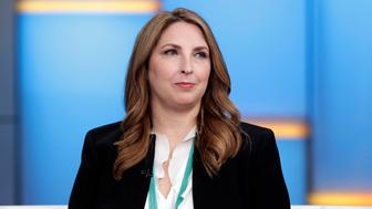 """Chair of the Republican National Committee Ronna McDaniel appears on the """"Fox & friends"""" television program in New York Thursday, May 24, 2018. (AP Photo/Richard Drew)"""