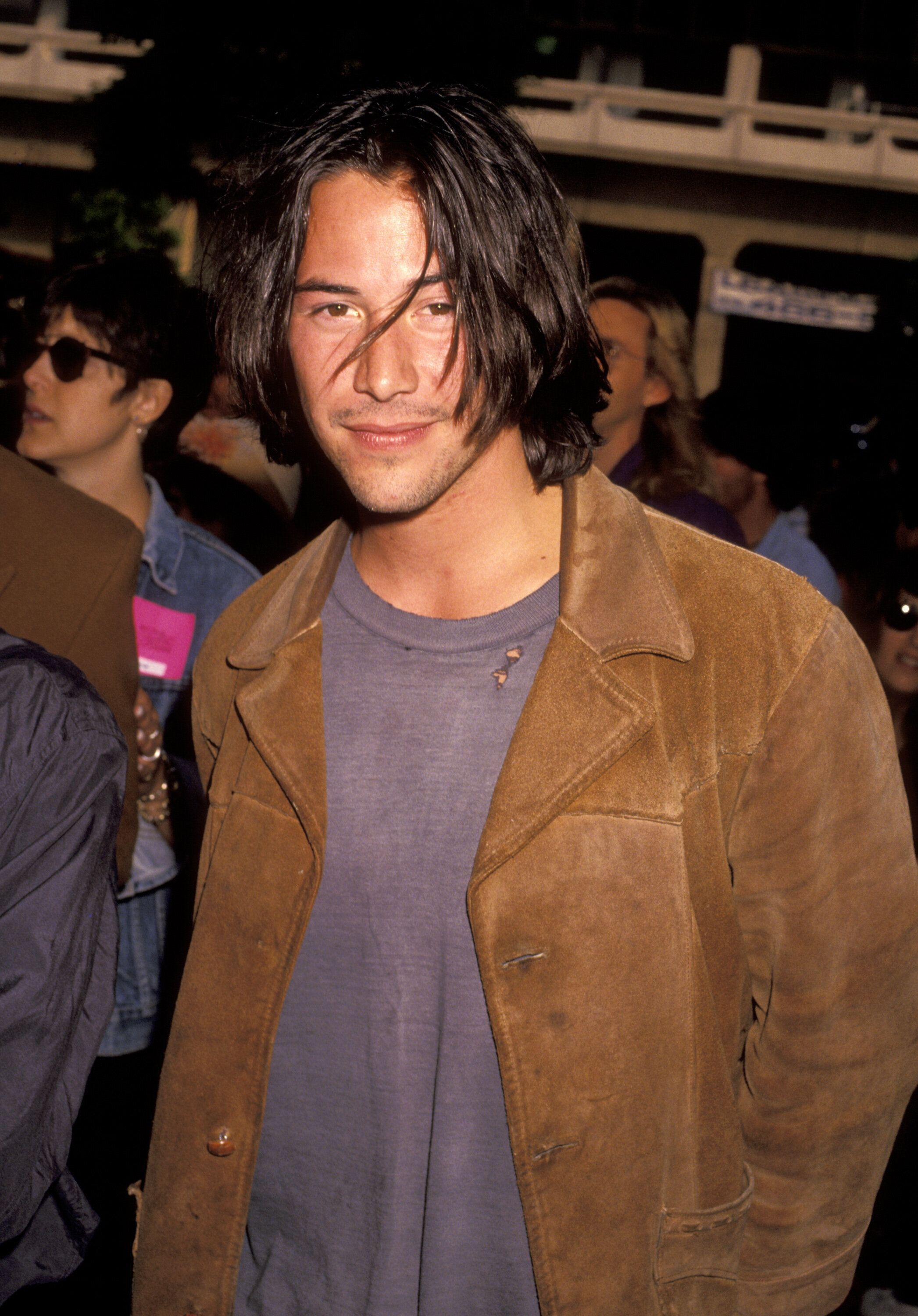 "Keanu Reeves during ""Bill & Ted's Bogus Journey"" Hollywood Premiere at Hollywood Palladium in Hollywood, California, United States. (Photo by Ron Galella/WireImage)"