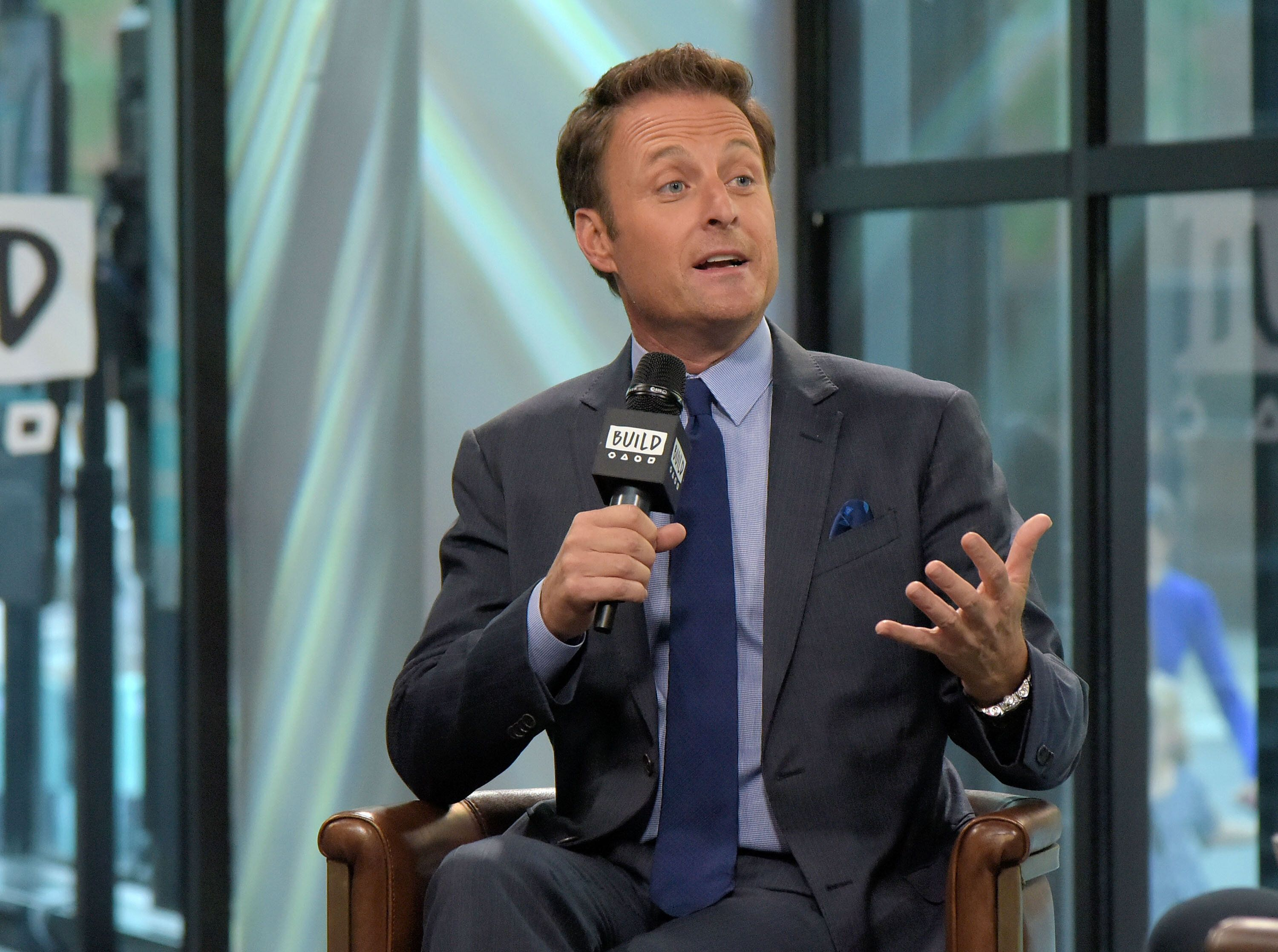 "NEW YORK, NY - SEPTEMBER 11:  Chris Harrison attends Build series to discuss ""Who Wants to be a Millionaire"" and ""The Bachelor"" at Build Studio on September 11, 2017 in New York City.  (Photo by Chance Yeh/Getty Images)"